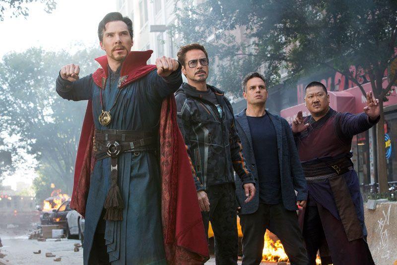 Avengers Infinity War - Dr Strange - Iron Man - Hulk
