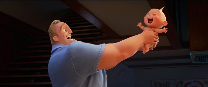 Incredibles 2 - Bob Parr and Jack-Jack