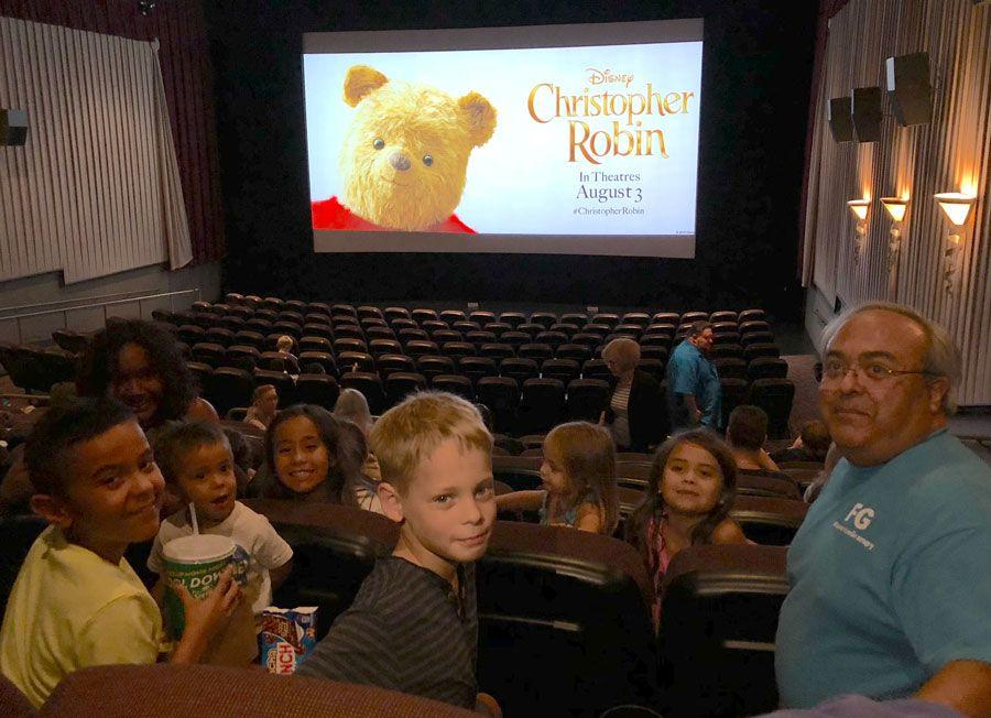 Christopher Robin with the Grandkids