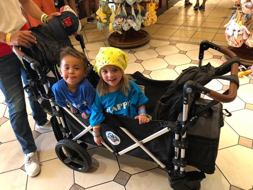Main Street Strollers Rental - Shopping with grandkids at Walt Disney World