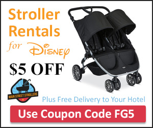 Stroller Rentals at Walt Disney World - $5 off Coupon Code