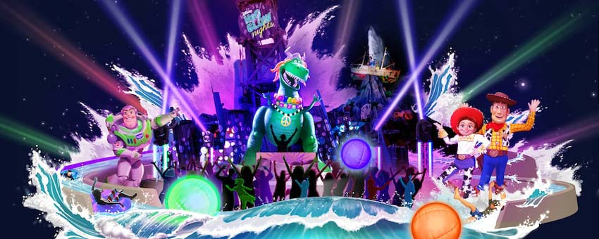 Ultimate Glow Party at Disney's Typhoon Lagoon Water Park in Orlando Florida