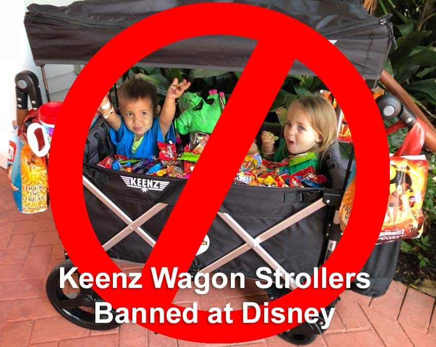 Wagon strollers are prohibited at Disney Parks as of May 1, 2019