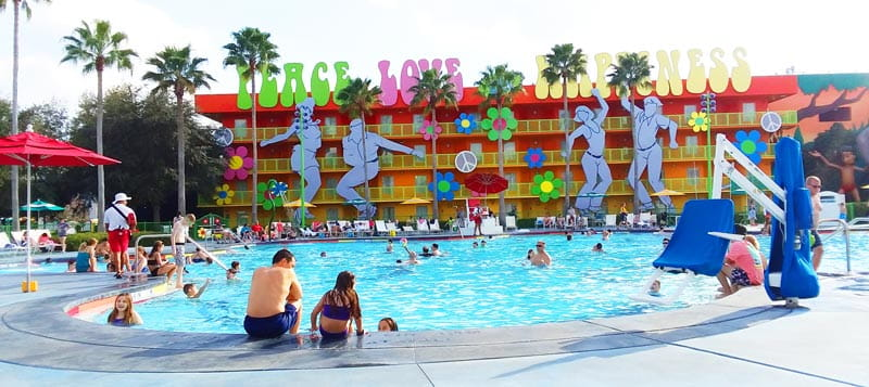 Disney's Pop Century Resort Pool at Walt Disney World.